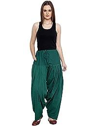 Fashion Store Dark Green Cotton Patiala Salwar