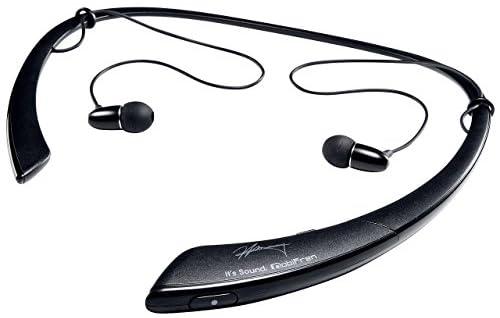 サンワダイレクト Bluetoothヘッドセット ネックバンド ステレオ iPhone スマートフォン 対応 振動機能付 ブラック GBH-S500