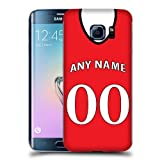 Case Fun Personalised Manchester United Football Shirt, Any Name, Any Number Snap-on Hard Back Case Cover for Samsung Galaxy S7 Edge