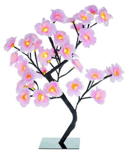 Idena 8582086 - Alberello luminoso con fiori di ciliegio, 48 lampadine a LED, per interni ed ...