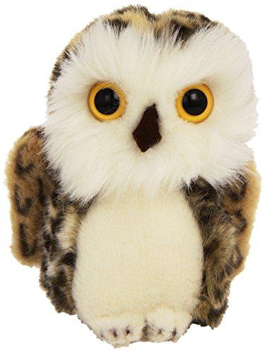 Steiff Wittie Owl Plush, Grey Brindled