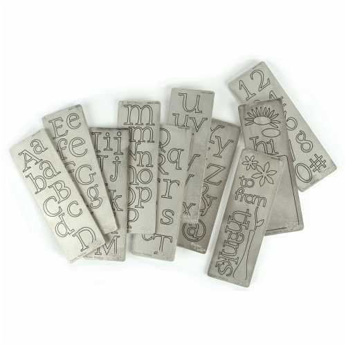 the letter a cuttlebug 2 inch by 6 inch alphabet die set for 25155 | 41sncda8CgL