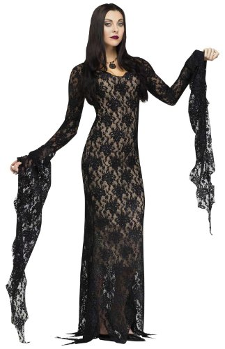 Great Group Halloween Costumes: The Addams Family - Morticia Women's Miss Darkness Costume