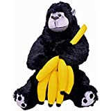 Black Gorilla With Eating Banana Soft Stuffed Toy 46 CM High Quality Soft Toy Kids Favorite Soft Toy NON TOXIC...