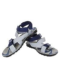 Earton Men's Grey & Blue EVA Sandals & Floaters