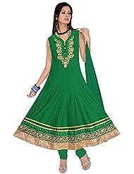 Elan Vital Women's Silk Cotton Anarkali Salwar Suit - B0188YGFBC