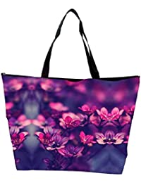 Snoogg Serene Flowers Waterproof Bag Made Of High Strength Nylon