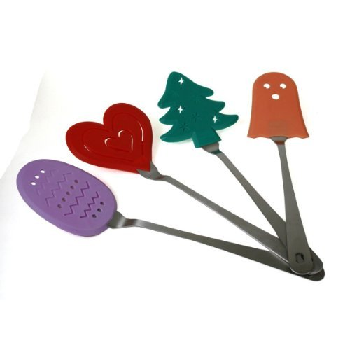 Holiday Spatulas Stainless Steel Holiday Themed Spatulas - Set Of 4