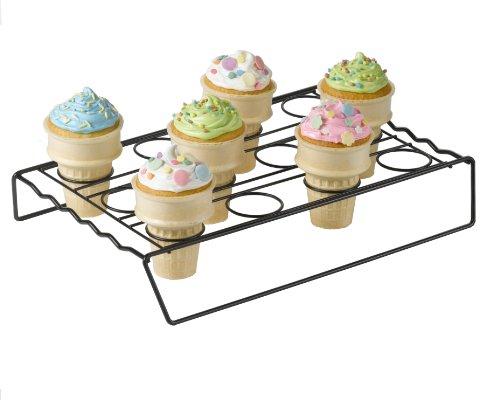 Make Gluten Free Ice Cream Cone Cupcakes using a Betty Crocker Ice Cream Cone Cupcake Baking Rack