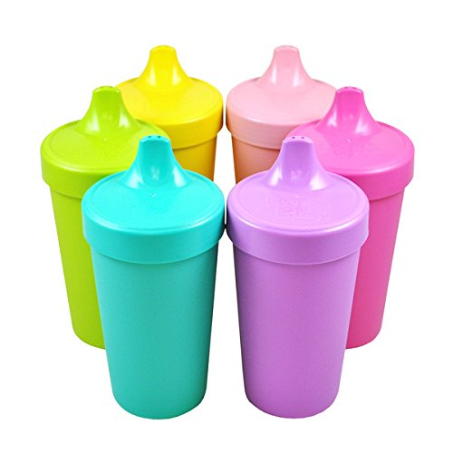 Re-Play Made in the USA No Spill Sippy Cup Set of 6 - Sorbet