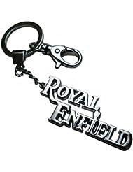 Techpro Premium Quality Locking Metal Keychain With Royal Enfield Design - B01IZO3GKI