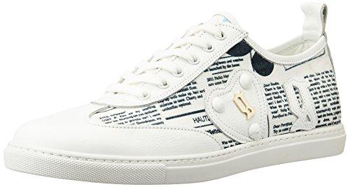 Galliano Women's White And Black Sneakers - B012FAQLH8