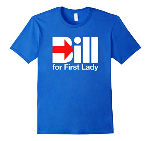 Trump and Clinton Halloween Costumes - Choose Edgy or Funny - Men's Bill for First Lady - HRCTee Royal Blue
