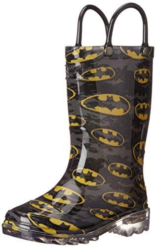 Western Chief Kids Batman Signal Light-Up Boot(Toddler/Little Kid/Big Kid), Black, 11 M US Little Kid