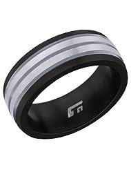 Peora Valentine Titanium Brushed-Finish Men's Ring TR162