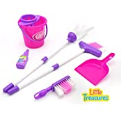 My Little Helper Cleaning Play Set From Little Treasures Complete With Broom, Mop, Bucket, Super Detergent, Hand...