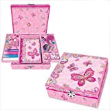 Girls Boutique CREATE YOUR OWN SECRET DIARY Set - with Jeweled Box, Pens, stickers, pens, ...