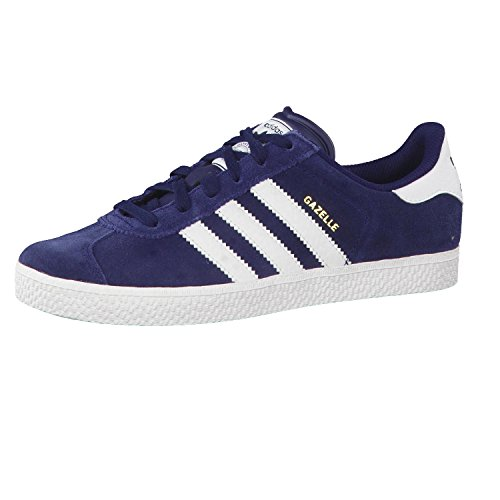 Adidas Gazelle 2.0 Kids Trainers Navy White - 38-2/3 EU