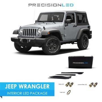 Precision LED Jeep Wrangler JK LED Interior lighting kit with License Plate LED's & Install Tools (6000K)