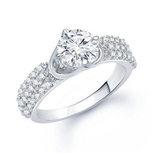 Meenaz Love Ring Valentine Gifts Silver Ring Fancy Party Wear In American Diamond Cz Ring For Girls & Women FR160