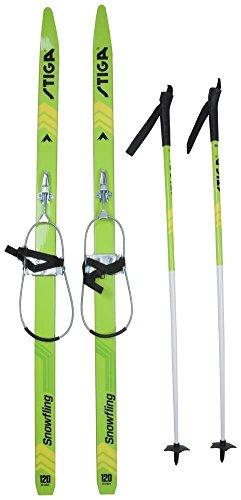 Stiga Langlauf Ski Set 110 cm XC Ski Snow Fling green 120 cm