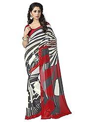 Vaamsi Georgette Printed Saree (Vega3059_Multi-Coloured_6.3 M Length)