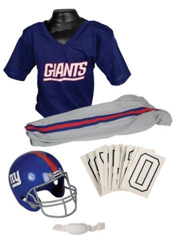 New York Giants Youth NFL Deluxe Helmet and Uniform Set