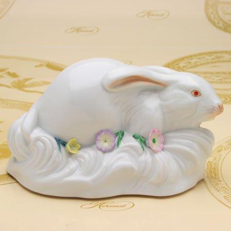 HEREND(ヘレンド) C(ファンシー) (05330)伏せ兎と小花・ラビット (並行輸入品)