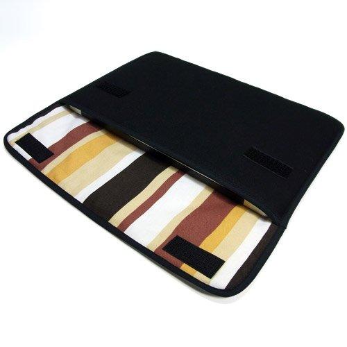 suono ハンドメイド MacBook Air ケース 11インチ用:FILO(ブラック・ブラウンストライプ)