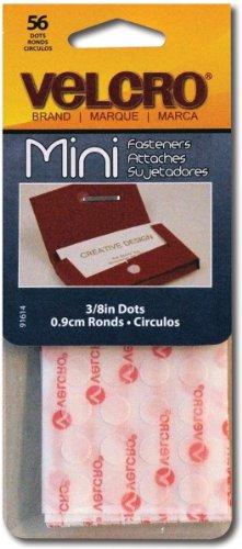 """VELCRO brand Mini Fasteners 3/8"""" Dots 56/Sets-White"""