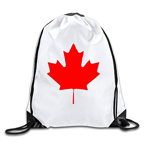 Trump and Clinton Halloween Costumes - Choose Edgy or Funny - Canada Maple Leaf Canadian Flag Sport Drawstring Backpack Gym Bag