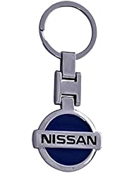 Techpro Premium Quality Metal Keychain With Blue Nissan Design