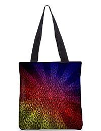 Snoogg Abstract Sun Rays Digitally Printed Utility Tote Bag Handbag Made Of Poly Canvas