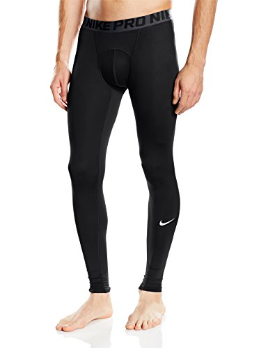 Nike Cool Tight - Mallas para hombre, color negro / gris / blanco, talla L