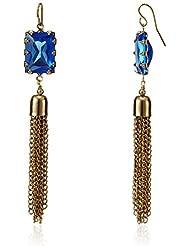 The Trunk Label Drop Earrings For Women (Blue) (PTSUB-100359)