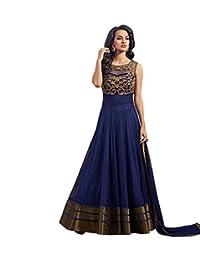 London Beauty Navy Blue Anarkali Salwar Suit