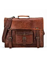 Pranjals House 15 Inch Leather Messenger Bag For Men & Women Laptop Bag Mens Satchel Leather Briefcase