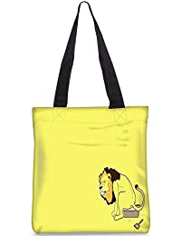 Snoogg The Lion On The Pot Digitally Printed Utility Tote Bag Handbag Made Of Poly Canvas