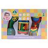Mee Mee Infant Rattle Set, Multi Color (3 Pieces)
