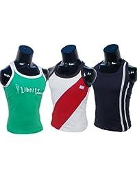 Men's Gym Vest Sport Inner Wear Sleeve Less Inner Wears For Men's Wears Pure Cotton Pack Of 3 Pcs Size; Medium...