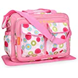 Mother Bag With Changing Mat Floral Print – Pink Spacious Diaper Bag With Adjustable Shoulder Strap Diaper Bag...