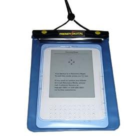 TrendyDigital WaterGuard Waterproof Case for Kindle, Blue Border