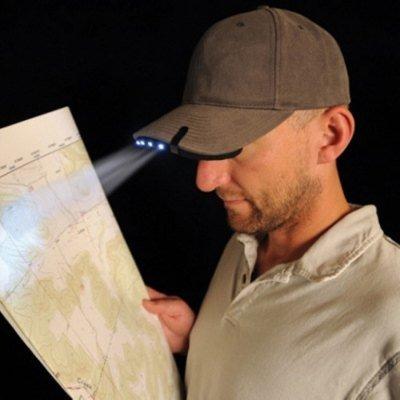 White Light 5 LEDs Clip Cap Lamp Night Fishing Head Light Outdoor Camping Supplies - BLACK