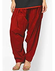 New Design Poly Cotton Patiyala Sal-war For Women's And Girl's (Maroon)