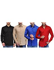 Feed Up Combo Of 4 Men's Shirts