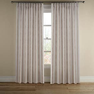 Montgomery 46 x 90inch Drop Per Curtain 1 Polyester Avon Stripe, Pack of 1, Natural: Amazon.co