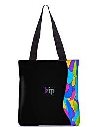 Snoogg Design Multicolors Digitally Printed Utility Tote Bag Handbag Made Of Poly Canvas