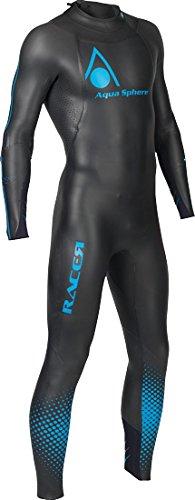 Aqua Sphere Powered Racer Wet Suit, Black/Blue, X-Small