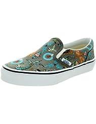 Vans Kids Classic Slip-On Van Doren Skate Shoe Holiday/Pewter 2.5 M US Little Kid