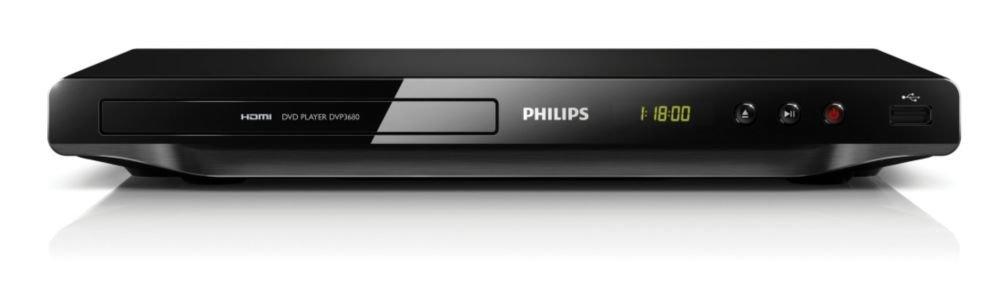 Philips DVP-3680 All Multi Region Zone Free PAL/NTSC DVD Player HDMI 1080 (Black)
